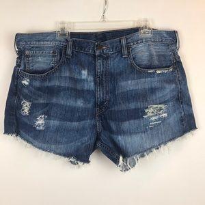 Levi's 569 Distressed Denim Cutoff Jean Shorts XXL